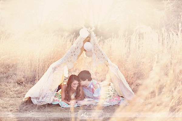 Beautiful meadow. Lovely little tent. Gorgeous laces adornment. Warm blankets. Lots of love. Oh so lovely. What a photoshoot!