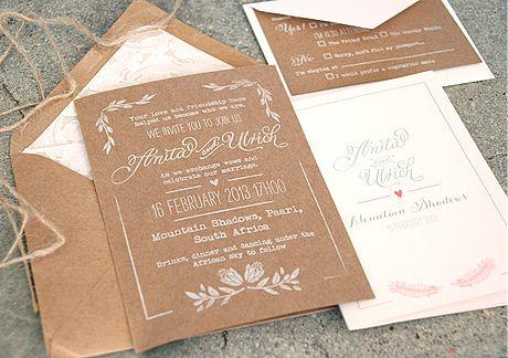 Anita & Ulrich's natural invitations - Blog - Seven Swans Wedding Stationery