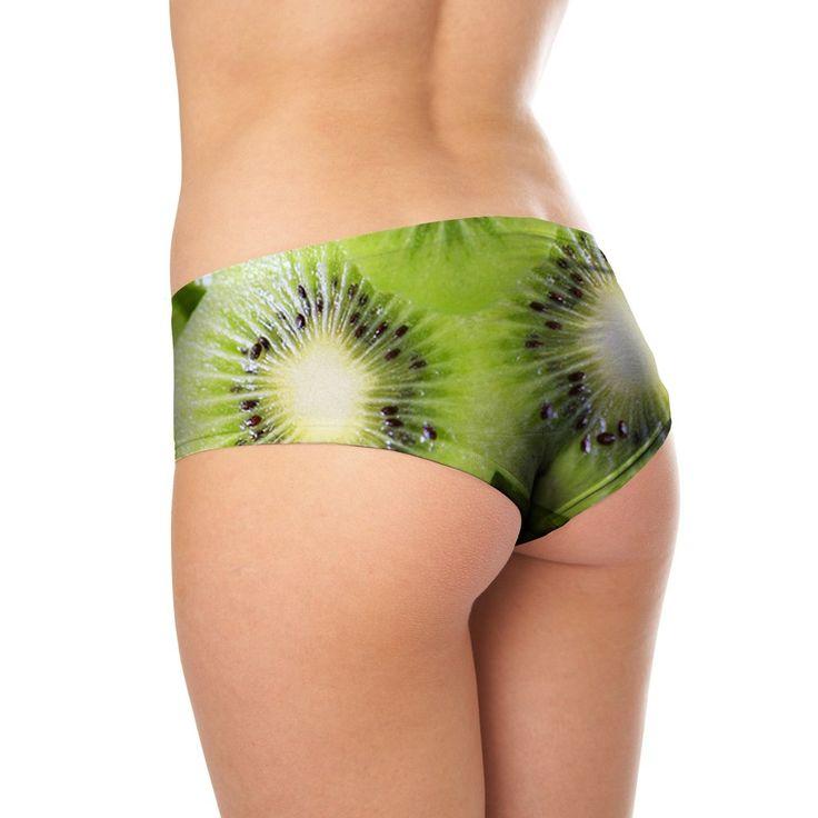 Kiwi Invasion Booty Shorts -   Fresh and plump realistic kiwi shorts.