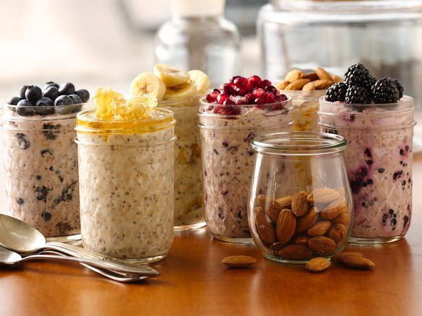 """Superpower"" Overnight Refrigerator Oatmeal 6 different recipes"