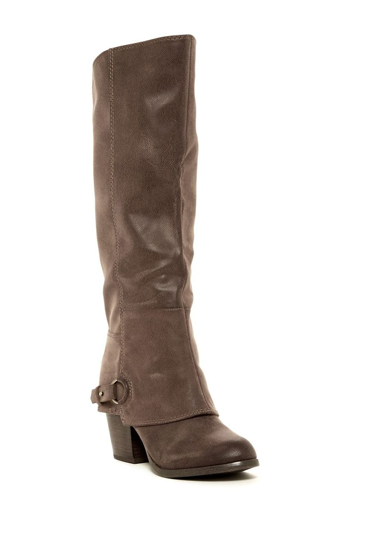 fergalicious lexy knee high chunky heel boot heel