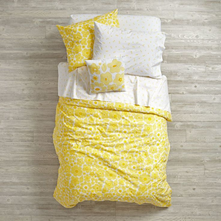 Shop Go Lightly Yellow Girls Bedding.  Our Go Lightly Yellow Girls Bedding features a mix of patterns & colors, and can be mixed and matched to create your own one-of-a-kind bedding set.