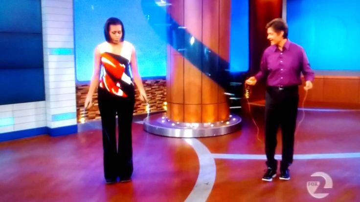 Michelle Obama KICKS ASS jumping rope!
