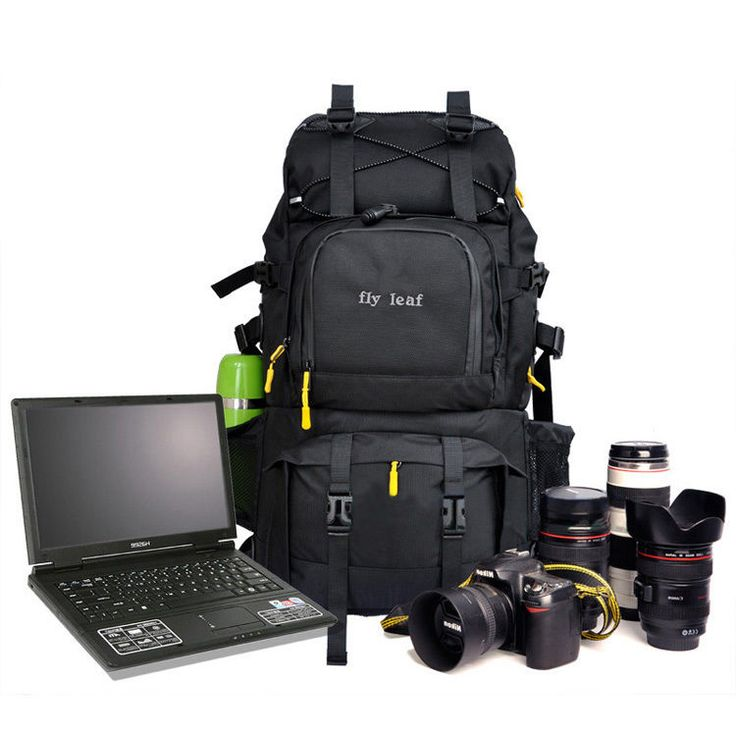 Large Waterproof Camera 17'' Laptop Backpack Rucksack Bags Canon Nikon DSLR SLR #Canon #CasesBagsCovers