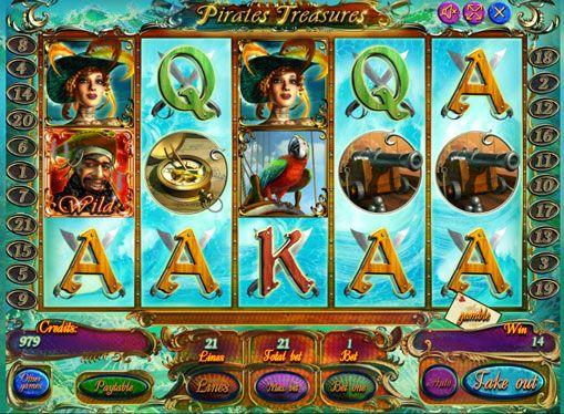 """Zagraj w automat  Pirates Treasures pieniędzy. Liczne historie i filmy o piratach nieustannie inspirować programistów do tworzenia tematycznych szczeliny. Nie oszczędził ten temat i maszyna Pirate Treasure, którym gracze są często określane po prostu jako """"piratów"""". Istnieje 5 bębnami i 21 liniami wypłat. Są dzikie i porozrzucane symbole. Z ty"""
