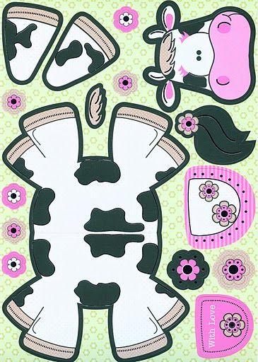 Koe knutselen met kleuters / cow preschool craft