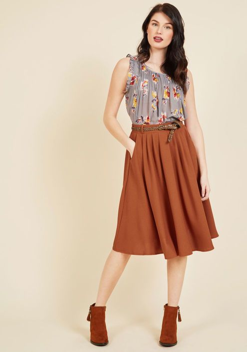 8f03d2f553 Breathtaking Tiger Lilies Midi Skirt in Black - This morning, a bundle of  bright flowers was waiting at your door. You excitedly scooped them up, ...
