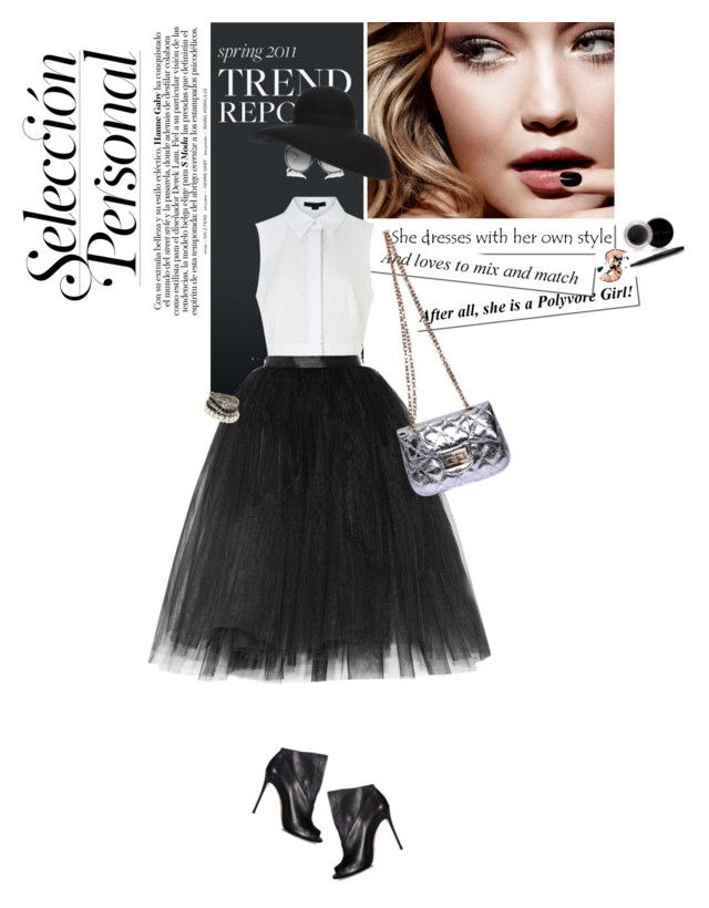 """Cocktail Party in giardino"" by piccolauby ❤ liked on Polyvore featuring Chanel, Casadei, Mary Kay, Tom Ford, Alexander Wang, Gabriela Dumitran and Ballet Beautiful"