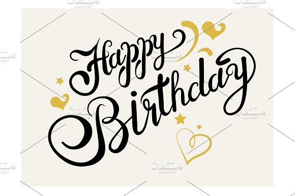 Happy Birthday. Lettering by kio on @Graphicsauthor