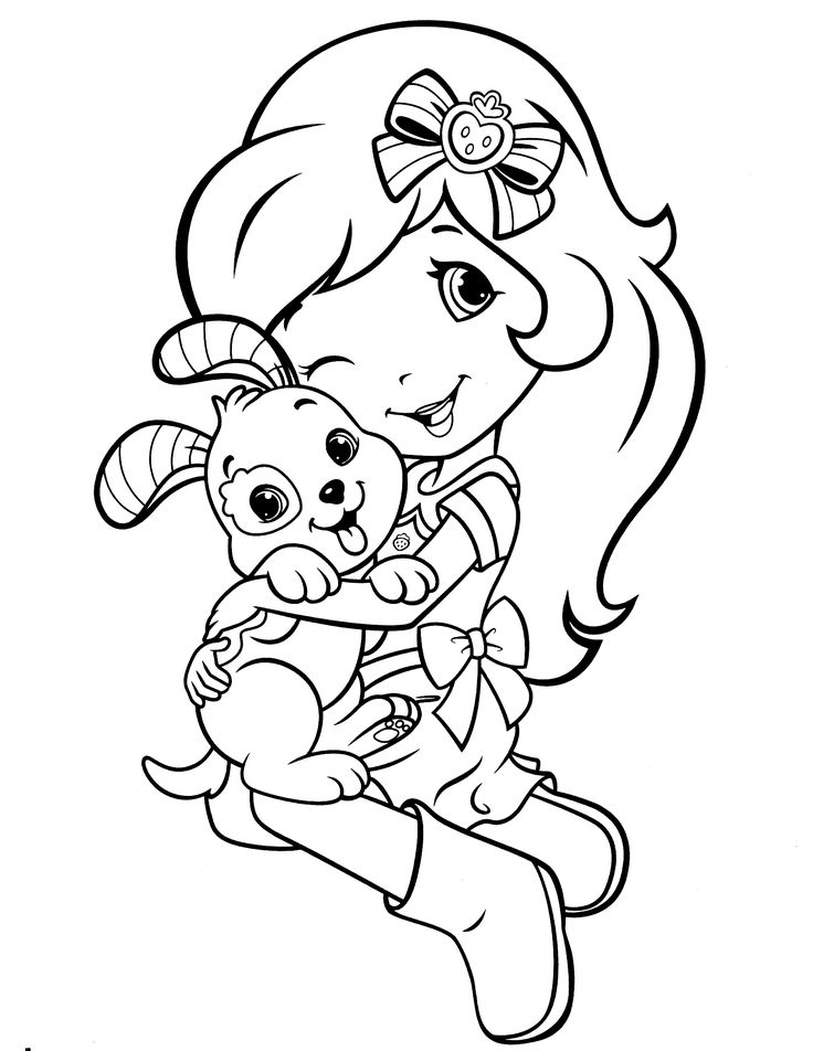 strawberry shortcake characters coloring pages - photo#36