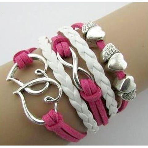 Double Heart Infinity Bracelet – Florence Scovel