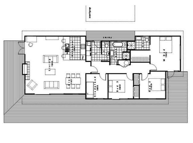 Sanctuary 134 4 bedroom transportable home house plans for 3 bedroom ensuite house plans