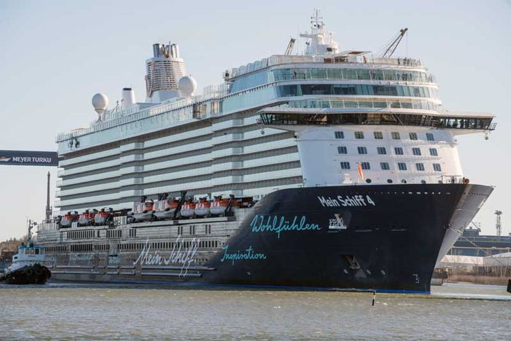 The German cruise line TUI Cruises has taken delivery of the Mein Schiff 4 cruise ship from Turku Oy.
