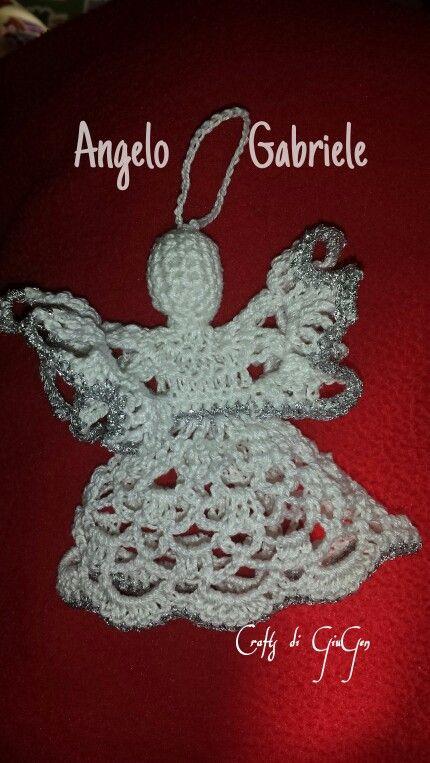 Angelo Gabriele all'uncinetto. Crochet Angel Gabriel