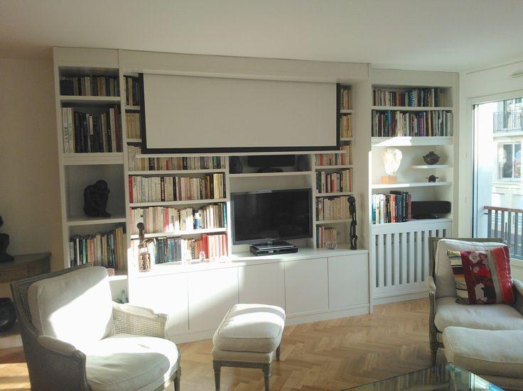 25 best ideas about meuble tv home cinema sur pinterest salles de cin ma palettes for Meuble qui cache la tv