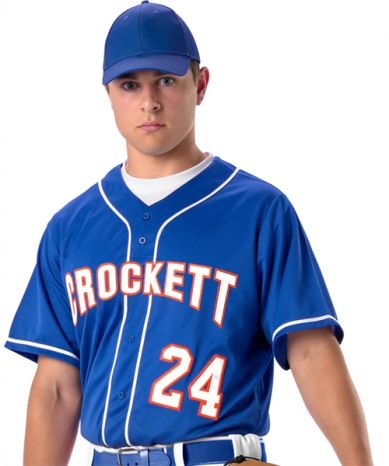 Download Youth Baseball Jersey With Braid 100% Extreme Mock Mesh ...