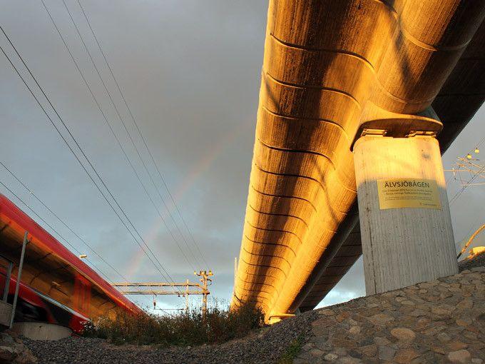 Snygg betongbro! Älvsjöbågen, Citybanan - Weber