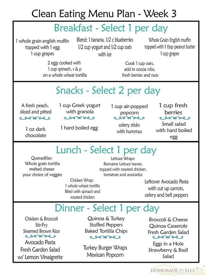Weekly Clean Eating Meal Plan Week – 12 Trending Clean Eating Diet Plans to Lose…