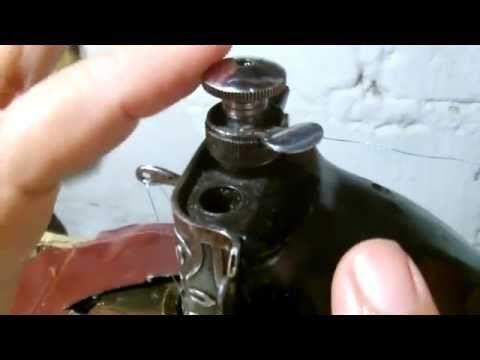 Repasando el bordado en maquina de costura recta - YouTube