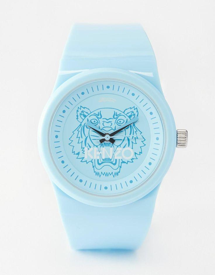 Kenzo Blue Tiger Head Watch