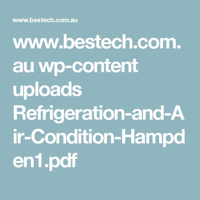 www.bestech.com.au wp-content uploads Refrigeration-and-Air-Condition-Hampden1.pdf