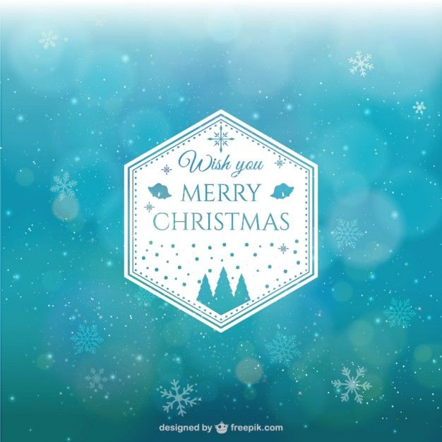 Abstract Christmas background with snowflakes  Free Vector