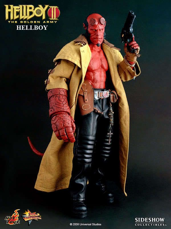 """Hot Toys 12"""" HELLBOY II THE GOLDEN ARMY MMS83 Hellboy 1/6 Action Figure EMS US #HotToys"""