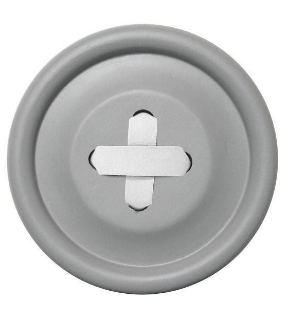 HK-living Haak grijs hout, witte steek 3 maten Ø6,13 en 18cm, Knoophaken…