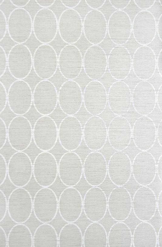 Sonoma Wallpaper Light Grey wallpaper with geometric oval design in White.