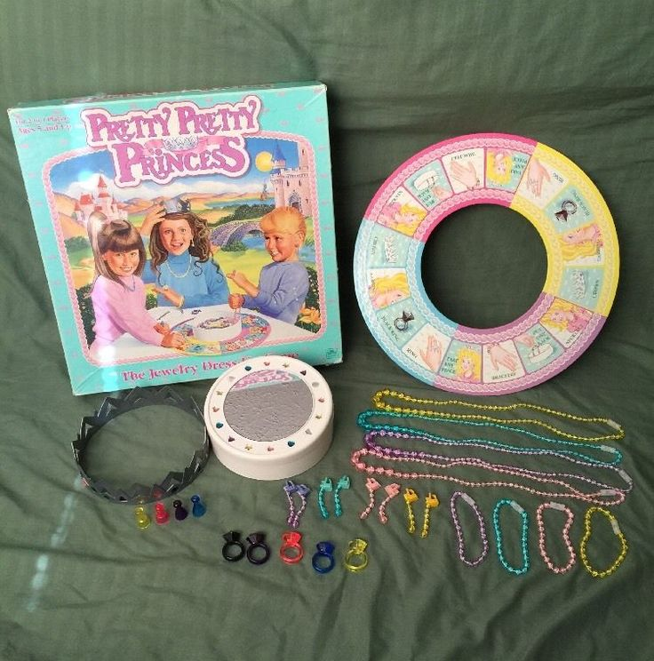 Pretty Pretty Princess Vintage 1990 Boardgame, ALL PIECES INCLUDED, Great Cond.