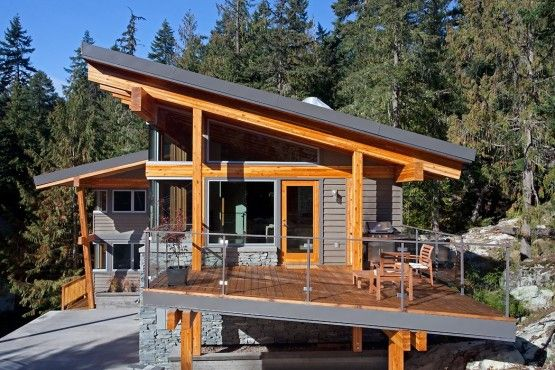 Whistler Slant Roof Chalet Pacific Northwest Modern