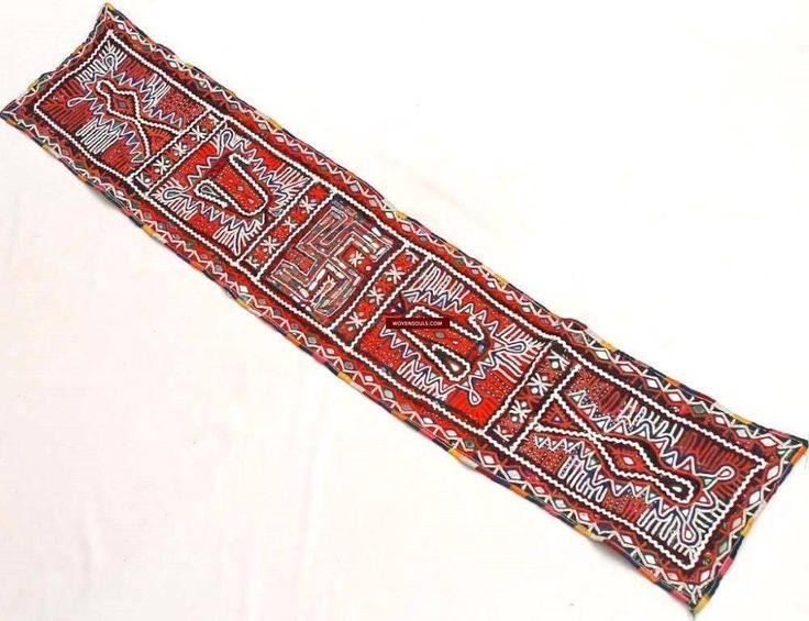 Fine Antiques & Art from WOVENSOULS - Singapore  845 Vintage Rabari Panel  Embroidered Band used as child groom's bokani or shoulder cloth accessory Heavy embroidery with mirrorwork. Gujarat Debariya Rabaris Estimated to be from the mid 1900s   #cloth #antique #cultural #art #Asian #fabric #vintage #traditional #handmade #textiles #NovSale #GujaratTextile #24T #INDIA