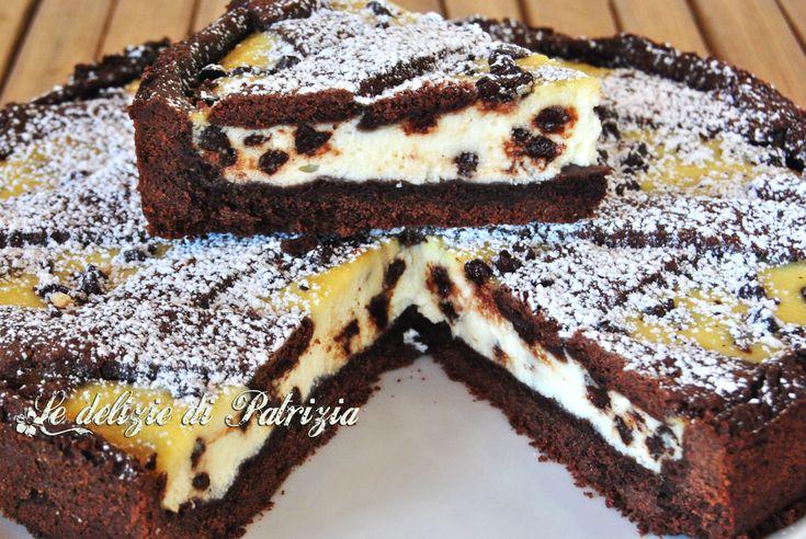 Crostata al cacao con ricotta e gocce di cioccolato ©Le delizie di Patrizia Gabriella Scioni Ricette su: Facebook: https://www.facebook.com/Le-delizie-di-Patrizia-194059630634358/ Sito Web: https://ledeliziedipatrizia.com
