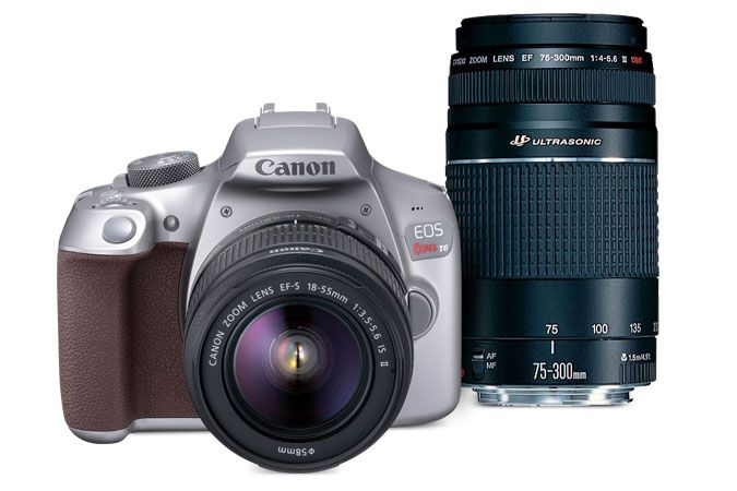 Canon EOS Rebel T6 Gray EF-S 18-55mm f/3.5-5.6 IS II Kit & EF 75-300mm f/4-5.6 III USM | Canon Online Store