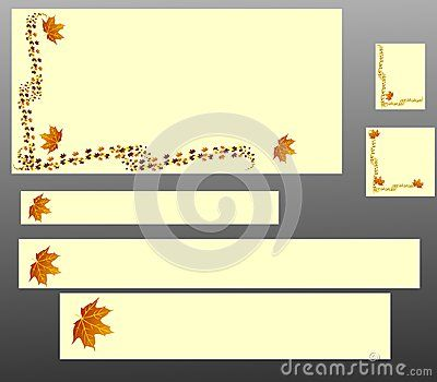 Abstract vector banners with falling leaves.This banners are in the most popular sizes: 468x60px, 120x90px, 125x125px, 728x90px, 600x300px, 600x120px