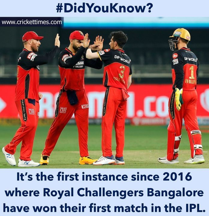 First Game First Win For Rcb In Ipl 2020 Cricket Ipl2020 Rcb In 2020 Latest Cricket News First Game Funny Puns Jokes