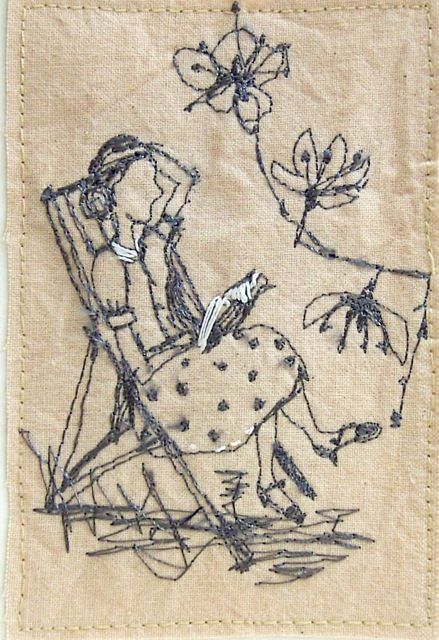 Betty has a quiet moment, by Michelle Holmes
