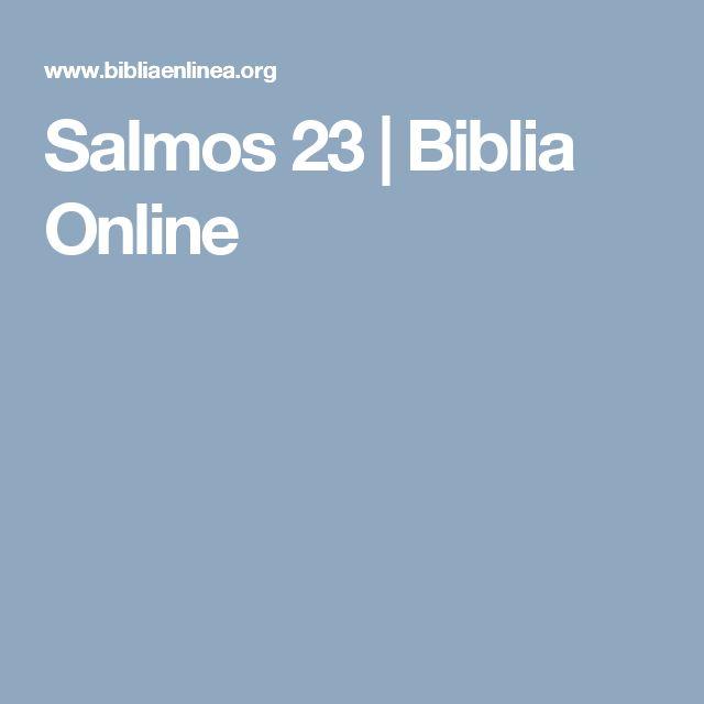 Salmos 23 | Biblia Online