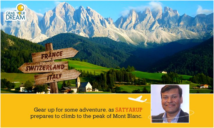 Wish Satyarup luck as he leaves for his French Expedition! Check out what lies ahead for him here: http://cnk.com/gydmontblanc