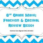 6th Grade Math: Fraction & Decimal Scoot (Common Core)