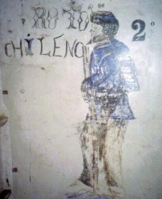 Pintura hecha por un soldado del Regimiento 2° de Línea en una casa de Arequipa