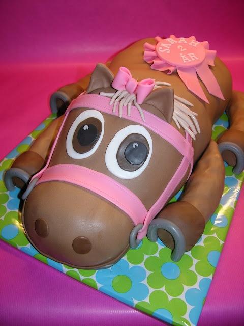 Adorable Horse Cake