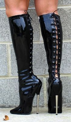 Ultimate leather heels stilettos shoes cuir leder - 2 2