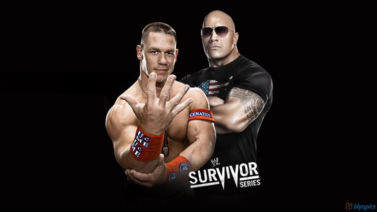 WWE John Cena and The Rock HD Wallpaper Survivor Series