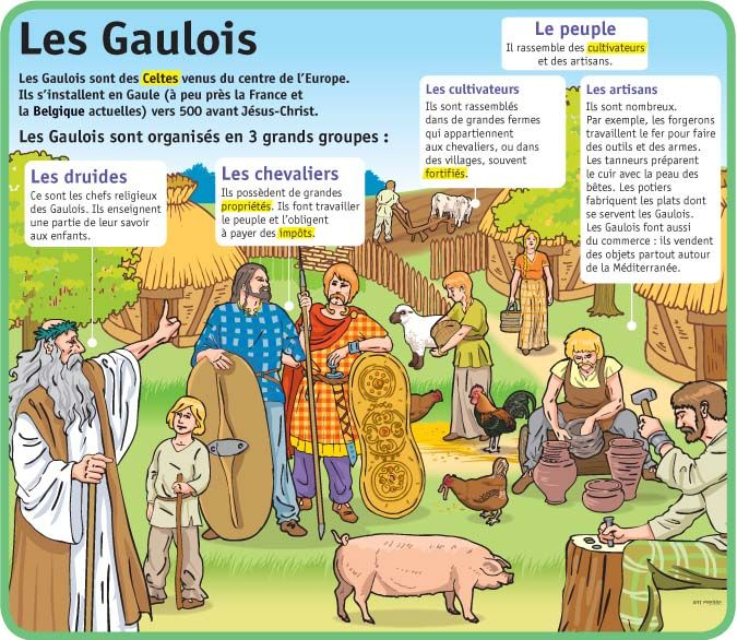 Fiche exposés : Les Gaulois