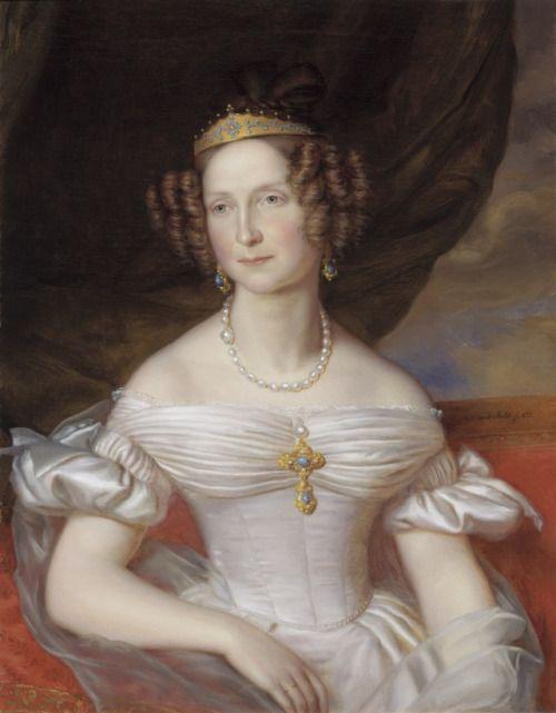 1837 Jan-Baptiste van der Hulst - Queen of the Netherlands, Anna Pavlovna of Russia