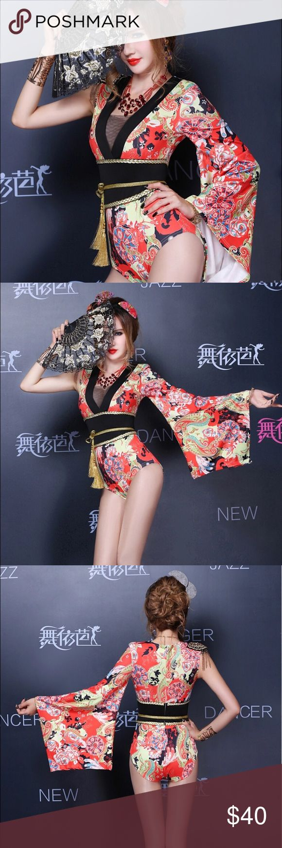 Halloween Geisha one piece costume. Geisha costume one piece. Beautiful detail. Rope and fan not included. Perfect condition only worn once! Other