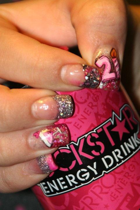 27 best 21st Birthday Nails images on Pinterest 21st birthday
