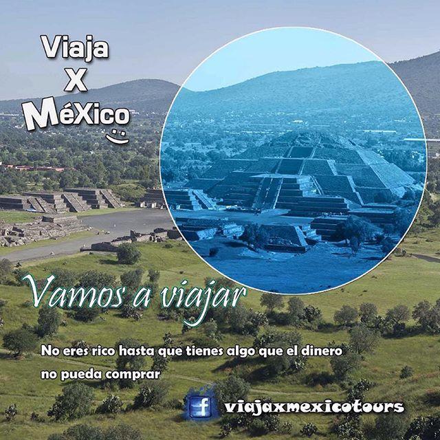 El verdadero significado de los viajes. #viajes #frase @viajaxmexico #México #travel #dinero #alma #mipais #cdmx #teotihuacan #piramide @inah @viveteotihuacan #arqueología