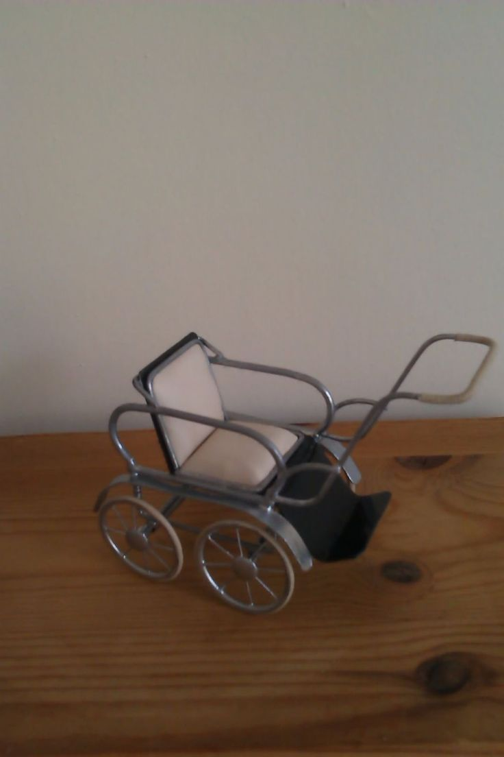 Roberson Miniatures Marmet pushchair 1930's -1950's in black and chrome. | eBay